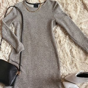 Chic Stripped Long Sleeved Dress